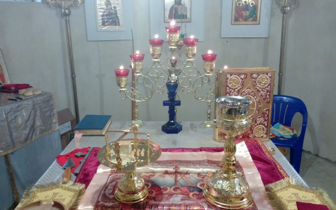 В праздник Происхождения (Изнесения) Честных Древ Животворящего Креста Господня