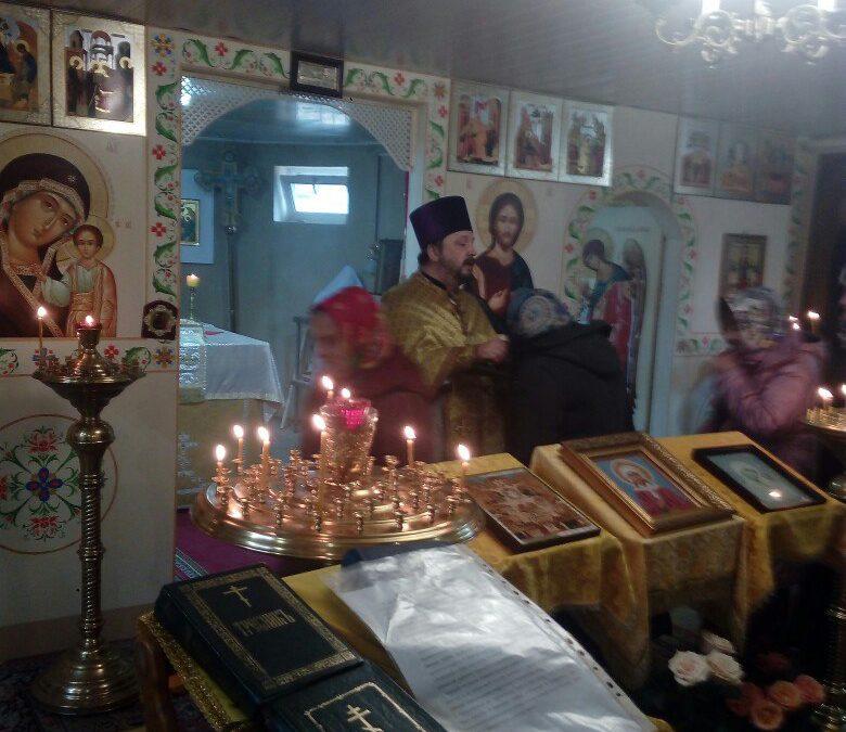Богослужение в  Престольный праздник нашего храма.