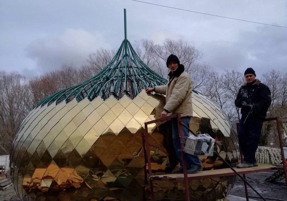 Этапы строительства храма Святой блаженной Ксении Петербургской в с. Лермонтово